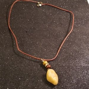 Other - Men or women bohemian style riverstone necklace